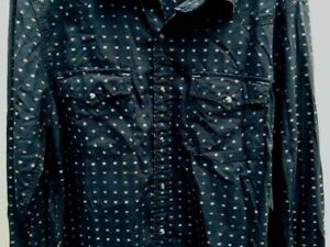 Calvin Klein Jeans Men's Western Shirt  Pearl Snaps LARGE Black
