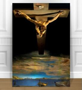 "SALVADOR DALI CHRIST ON THE CROSS ST JOHN CANVAS PRINT 24x36"" SURREAL ART"