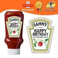 PERSONALISED SPOOF KETCHUP BOTTLE LABEL BIRTHDAY ANY OCCASION GIFT