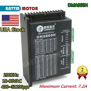 【in US】Leadshine DMA860H Stepper Motor Driver 7.2A 18-80V f 57/86 Stepping Motor