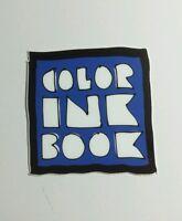 COLOR INK BOOK B&W BLUE SDCC SAN DIEGO COMIC-CON SMALL 2x2 TV MOVIE STICKER