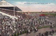 Postcard Race Track State Fair Park Dallas Texas Tx