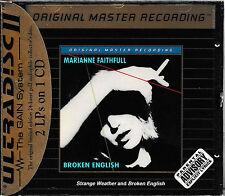 MARIANNE FAITHFULL -Broken English&Strange Weather/MFSL/UDCD 640/GOLD CD/SEALED!