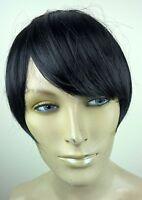 jet black clip in on fake fringe bangs hair extension hair piece fancy dress