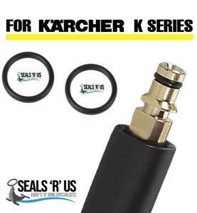 KARCHER Pressure Washer Quick Release Hose Male End O-Ring Rubber Seals 2 Seals