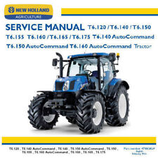 New Holland Tractor T6 AutoCommand Service Manual Workshop Factory Repair PDF CD
