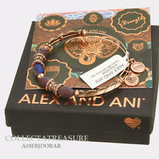 Authentic Alex and Ani Journey, Dark orchid Rose Gold Expandable Bangle