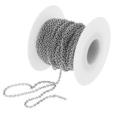 1Roll Stainless Steel Cable Chain Necklace for Men Women DIY Craft Jewelry