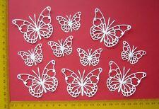 Scrapbooking-Kartenaufleger Sticker 10 x Schmetterlinge weiß