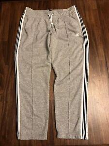 Adidas Athletic Sweatpants Womens Size Medium tapered Jogger Gray