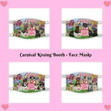 Carnival Kissing Booth Dogs Cats Photo Face Masks, Personalized Custom Face Mask