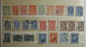 Greece 1911-1923 Engraved Lithograthic Issues/Lot of 25 used&mnh stamps