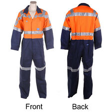 Mens Heavyweight Hi Vis Overalls Cotton Drill 97r WS86111 Size 7 A19