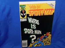 Web of Spider-Man (1st Series) #18 1986 FN Venom Cameo Behind The Scenes