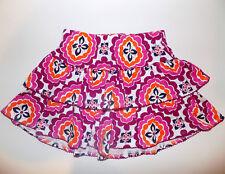 Gymboree Tiered Scooter Skirt sz 3T purple orange & white skort NEW