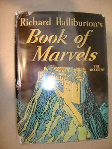 Richard Halliburton's Book of Marvels The Occident 1937 Bobbs-Merrill DustJacket