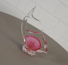 edler Murano Glas Fisch Skulptur Glasfigur 17,5 cm Vintage 60er 70er Jahre Italy