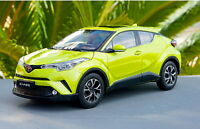 1/18 Scale Toyota C-HR CHR Yellow Diecast Car Model Toy Collection Gift NIB