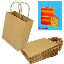 20 Papiertaschen Braun, extra starkes Material, 18x8x21cm