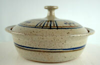 Pottery Handmade In Studio Covered Baker Dish Bowl Signed Nelson Beautiful
