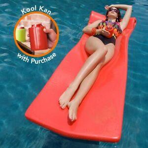 """Texas Rec 70"""" x 26"""" x 1.75"""" Kool Float Swimming Pool Foam Mattress - Coral"""