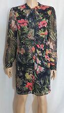 "W118 by Walter Baker Floral Print Tie Neck ""Brooklyn"" Dress Sz. 10 NWT $188"