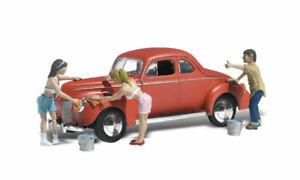 New Woodland HO Scale Suds & Shine Vehicle Figure AutoScenes AS5533
