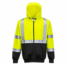 Portwest B315 Hi Vis Two-Tone Zipped Safety Hoodie Reflective Tape -Yellow/Black