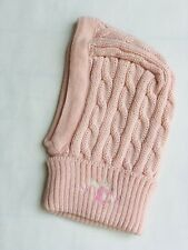 Tartine et Chocolat Girls Pink Wool Cable Knit Bonnet - 6 Months / 1 Year