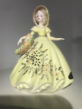 """Josef Original Ladies Of Song Girl """"Portraits"""" Series Young Lady Yellow Dress"""