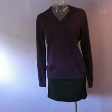 BROOKS BROTHERS Merino Wool V Neck Sweater S Purple GORGEOUS COLOR
