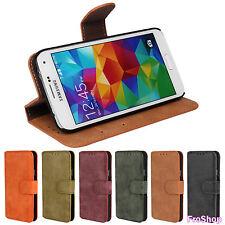 Für Samsung Galaxy S5 Wild Leder Cover Handy Hülle Tasche Schutz Flip Case Etui