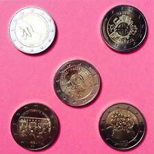 5 x 2 Euro Gedenkmünze Malta: 2011+2012+2012+2013+2014-Polizei prägefrisch RAR
