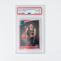 2018 Panini Donruss Optic - Trae Young #198 - RC Rookie PSA 10 GEM MINT Hawks