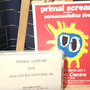 Primal Scream – Give Up But Dont Give Out - Demo Cassette - Creation - + flyer