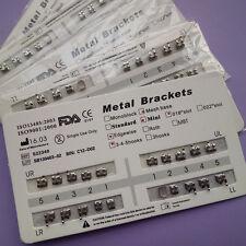 Dental Orthodontic Metal Bracket braces Mini Edgewise 018 Slot 345 hooks 50 Sets