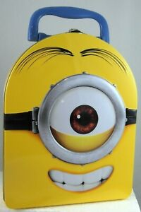 Despicable Me MINION HEAD Tin Carry All Lunch Box Case ONE-EYED CARL new