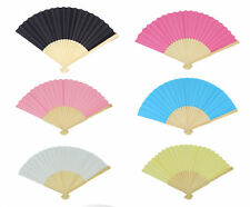 UK SELLER Durable Handheld Fabric Hand Folding Fan Outdoor Dancing Bridals