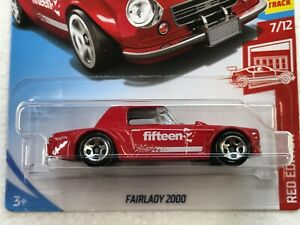 HOT WHEELS RED EDITION FAIRLADY 2000 #7/12 TARGET EXCLUSIVE