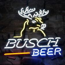 """Neon Light """"Busch Beer"""" Bar Deer Sign Vintage Boutique Workshop Home Wall Decor"""
