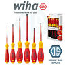 Wiha 36455 SlimFix VDE Screwdriver Set Slotted & Pozi 6 Piece 1000v Best Quality