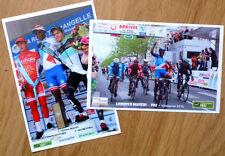 cyclisme - Lot 2 cartes photo course La Roue Tourangelle 2015 - Lorenzo MANZIN