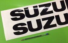 Suzuki Logo Track bike or road fairing Decals Stickers PAIR #156