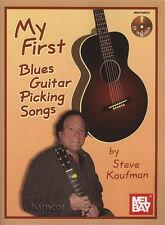 My First Blues Guitar Picking Songs Steve Kaufman Book/CD Acoustic Fingerpicking