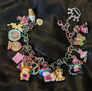 Rainbow Heart Charm It Bracelet 20 Charms Disney Hello Kitty Ballerina Girl Toys