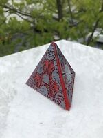PAINTED Hellraiser Inspired PLA Puzzle Triangle (Red with Pewter)