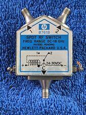 Hp 8761B Spdt Rf Switch Dc to 18 Ghz Option 555