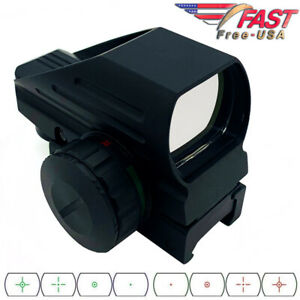 Red Green Dot Reflex Sight Scope Tactical Holographic 4 Reticles Picatinny Rail