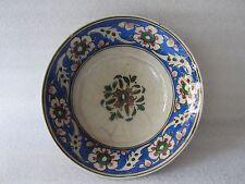 Beautiful Antique Iznik Turkish Ottoman Faience Pottery Hand Painted Bowl