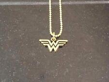 "Wonder Woman DC Comics Licensed Deluxe Gold tone PENDANT/NECKLACE 18"""
